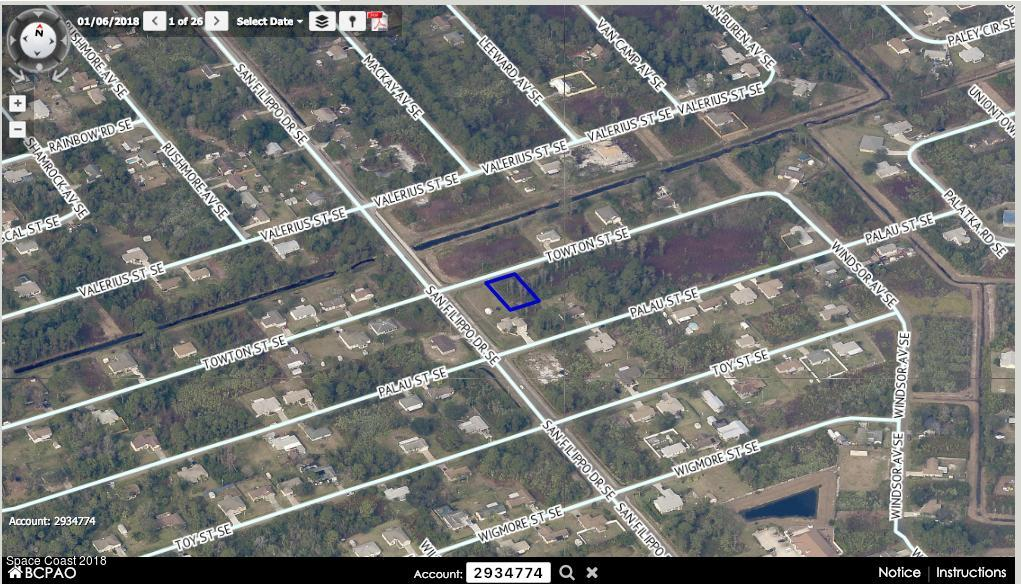 Land for Sale at 1410 Towton Palm Bay, Florida 32909 United States
