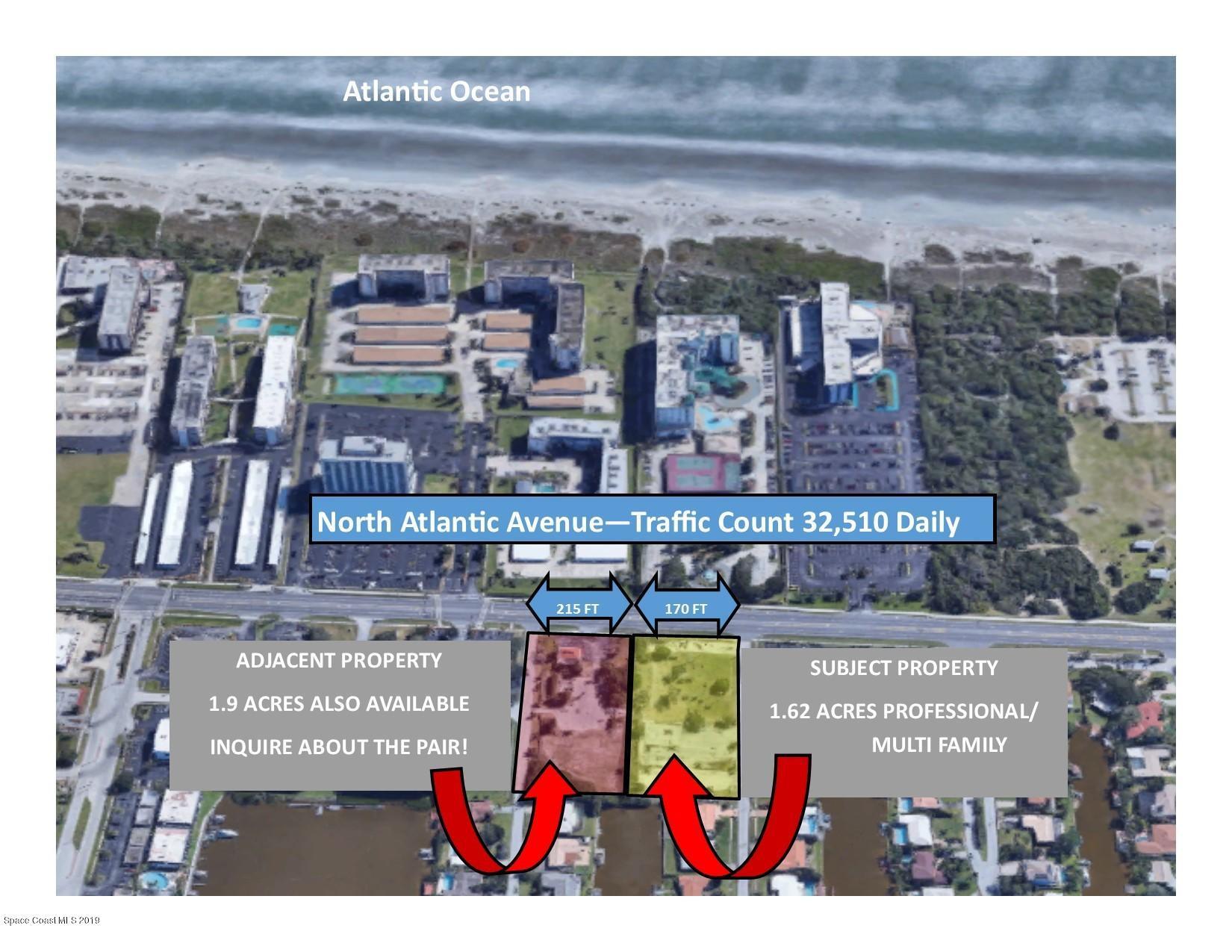 Terrain pour l Vente à 1615 N Atlantic 1615 N Atlantic Cocoa Beach, Floride 32931 États-Unis