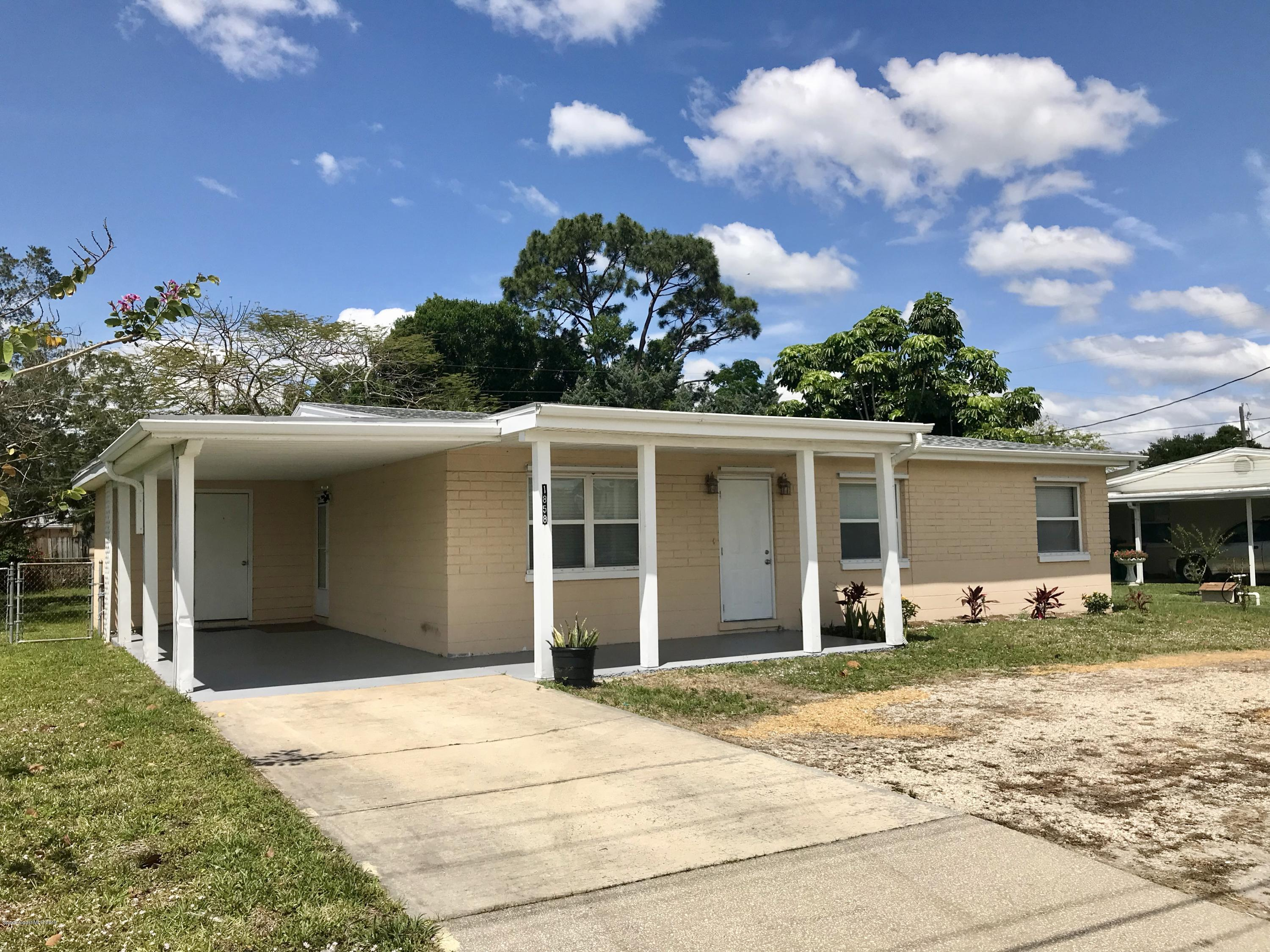 Single Family Home for Sale at 1858 Croton 1858 Croton Melbourne, Florida 32935 United States