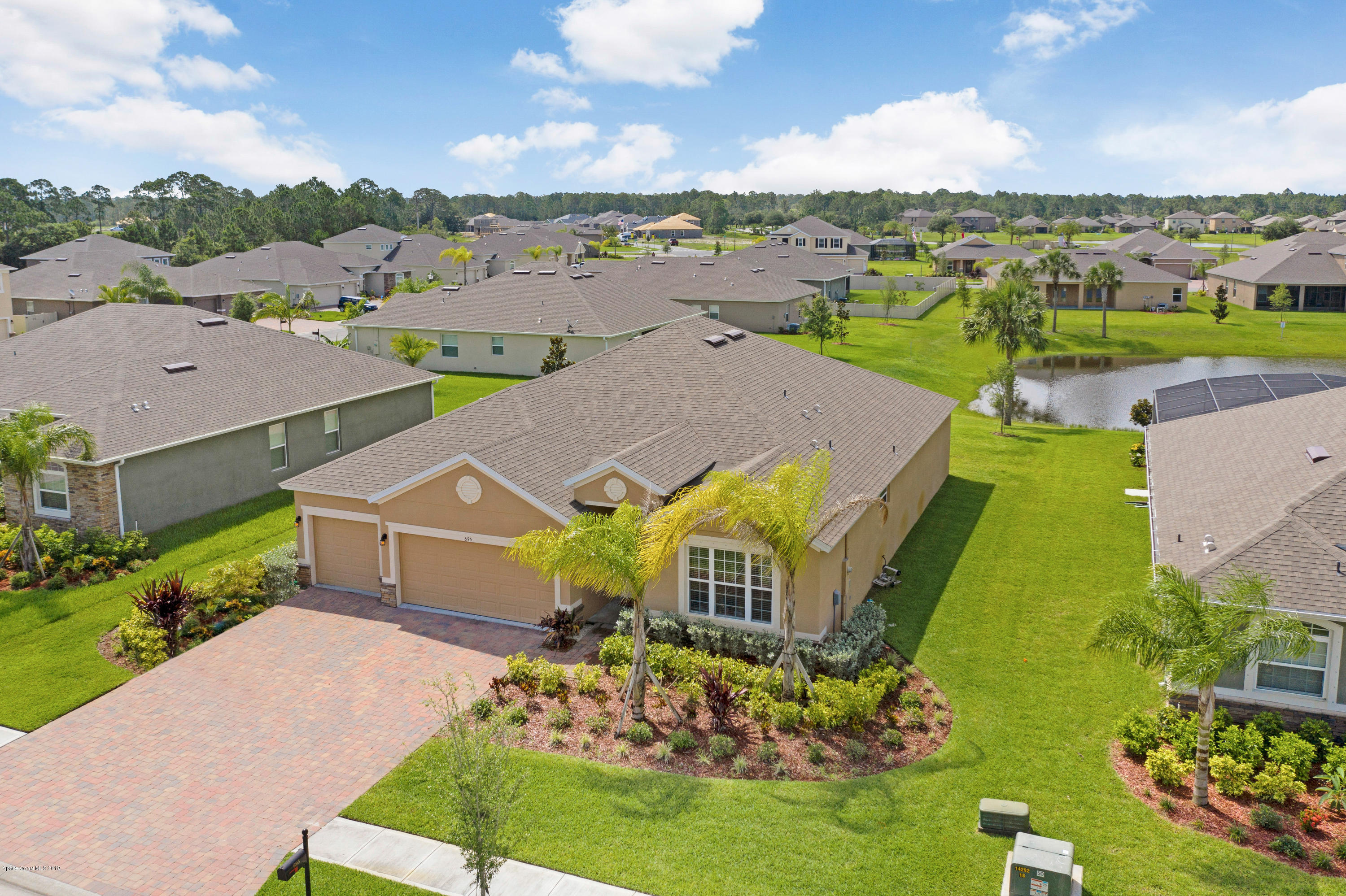 Single Family Homes for Sale at 695 Easton Forest Palm Bay, Florida 32909 United States