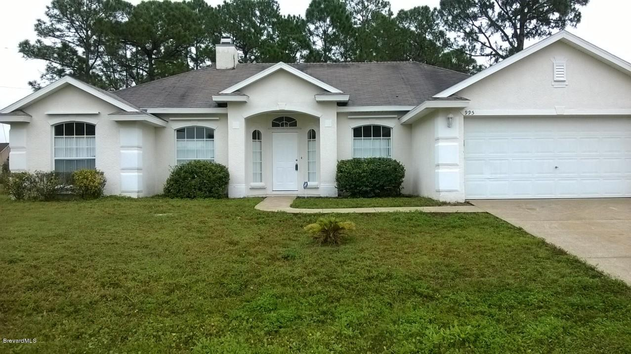 Single Family Homes for Rent at 995 NW Black Coral Palm Bay, Florida 32907 United States