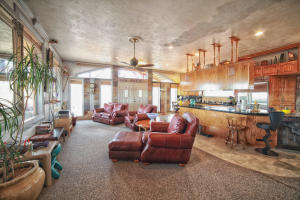 living room & kitchen