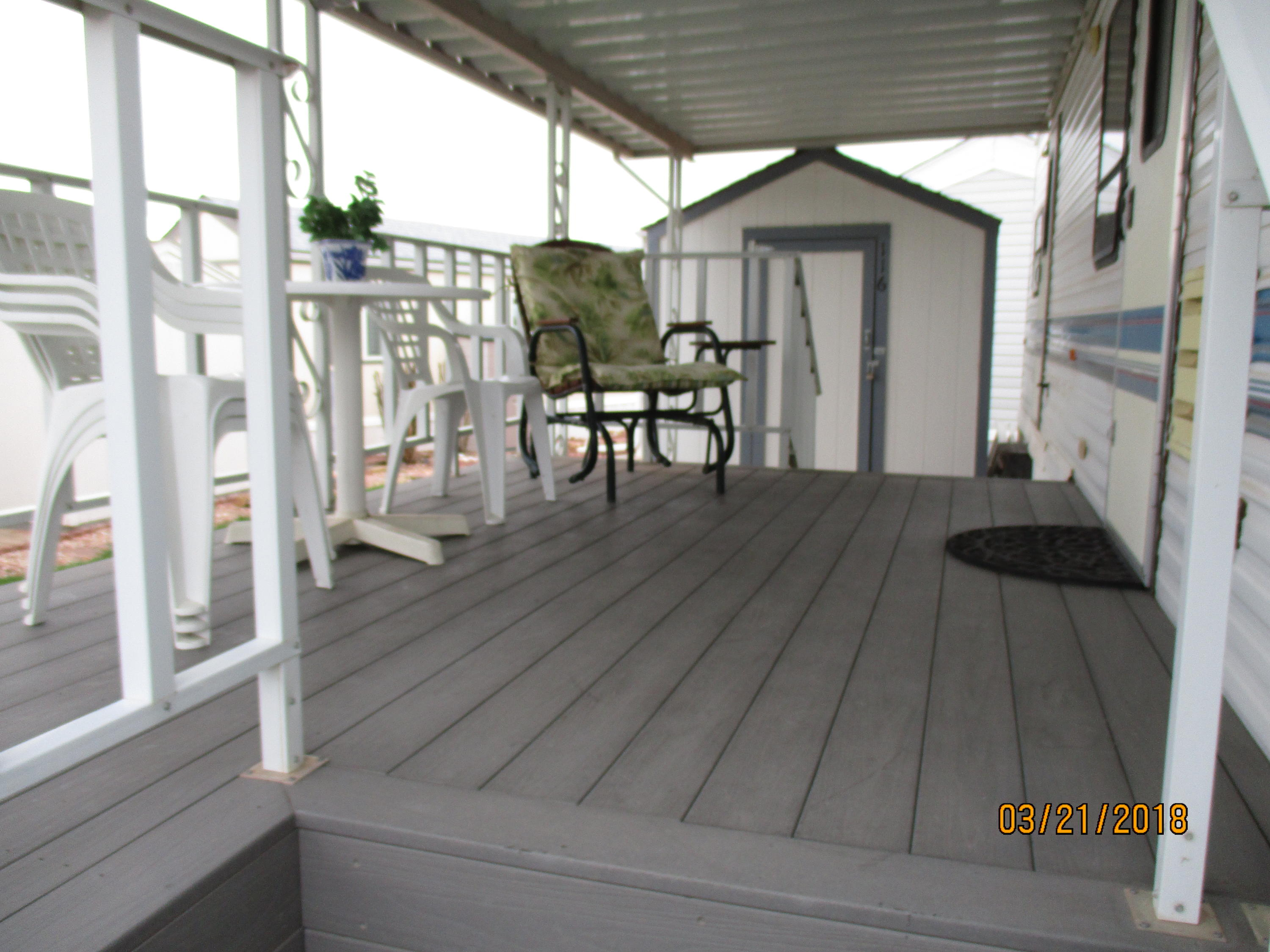LOCATED IN THE 55+ ACTIVE ADULT COMMUNITY OF CHEROKEE SPRINGS, IS THIS IMMACULATE 30 FOOT 1995 PROWLER TRAILER. THIS TRAILER HAS ONE LARGE SLIDEOUT & IS FULLY FURNISHED AND MOVE-IN READY.  GREAT LARGE LOT WITH 8 X 8 SHED/LAUNDRY, ATTACHED COVERED DECK WITH TREX FLOORING.  YOU OWN THE LOT AS WELL.LOW HOA DUES OF $60.00 COVERS WATER (IN & OUT), PARTIAL YARD MAINTENANCE,  GARBAGE & CLUBHOUSE.