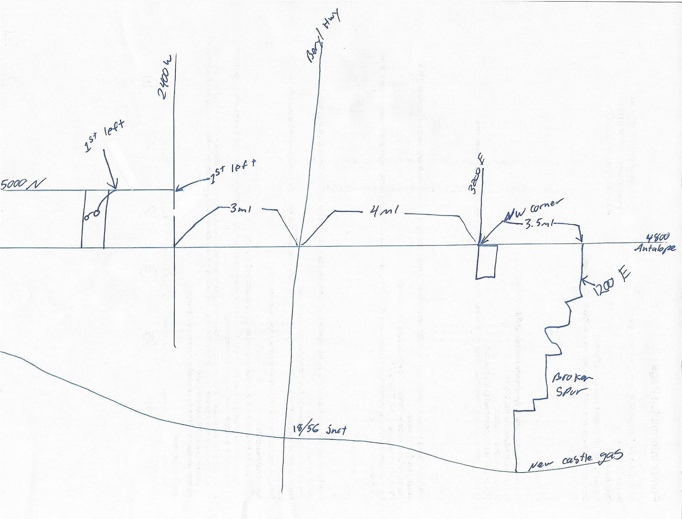 4800 Antelope Rd. to 3200 W to 5000 N to dead end, see map on the MLS.Package purchase available on two lots for $20,000.