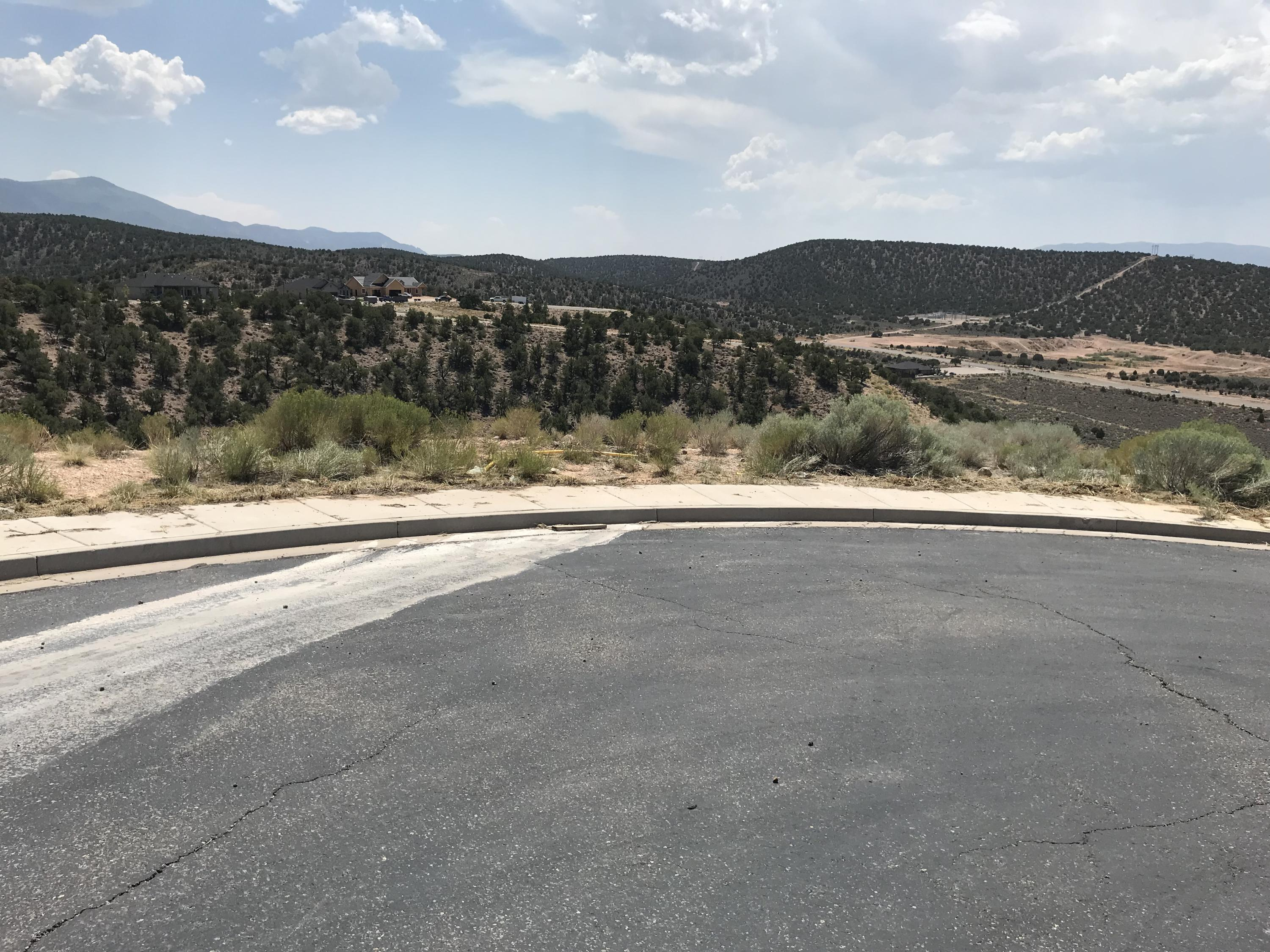 A lot with a view! This could be the location of your dream home. The rear of the lot faces Southwest. Located near the temple.