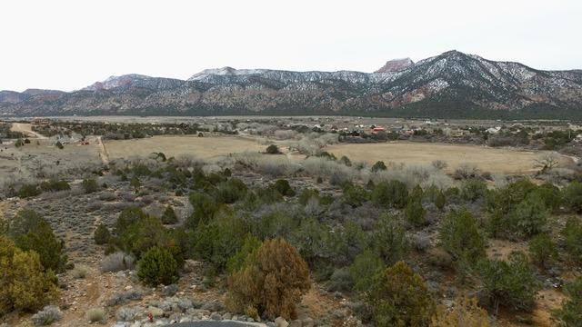 Incredible treed horse property 6.49 acres of seclusion and beauty.  Adjacent to BLM, borders/Ash Creek with Kanarra Creek in the back of lot.  Spring time is filled with nature and peaceful, running water! Paved roads!  All utilities under ground and stubbed in to lot including electric, natural gas and water.