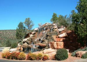 Waterfall at Entrance