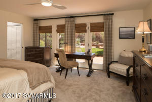 Spacious Master Suite With French Doors