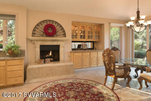Kitchen Fireplace + Dining