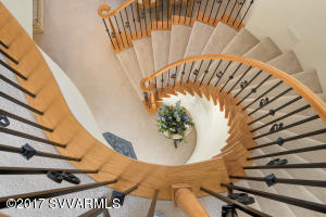 WOOD FINISH SPIRAL STAIRCASE