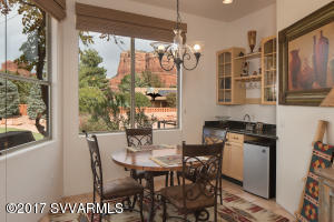DINING AREA SURROUNDED BY RED ROCK VIEWS