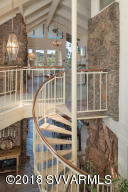 Spiral Staircase To Upper Living Level
