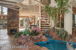 Indoor Water Feature Off Foyer