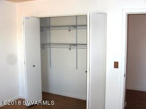 CLOSET WITH NEW SHELVING