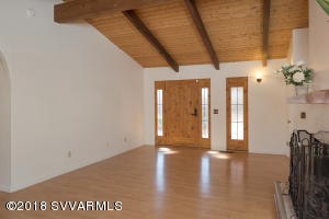 Wood Ceilings and Beams - Front Entry