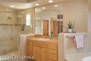 WALK-IN SHOWER & DUAL VANITIES