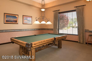 Pool Room At Clubhouse