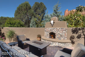 Front Patio Fireplace & Custom Fire-Pit