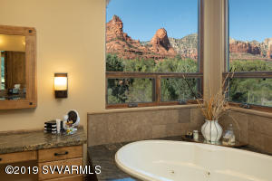 Master Bath Enhanced With Soothing Views