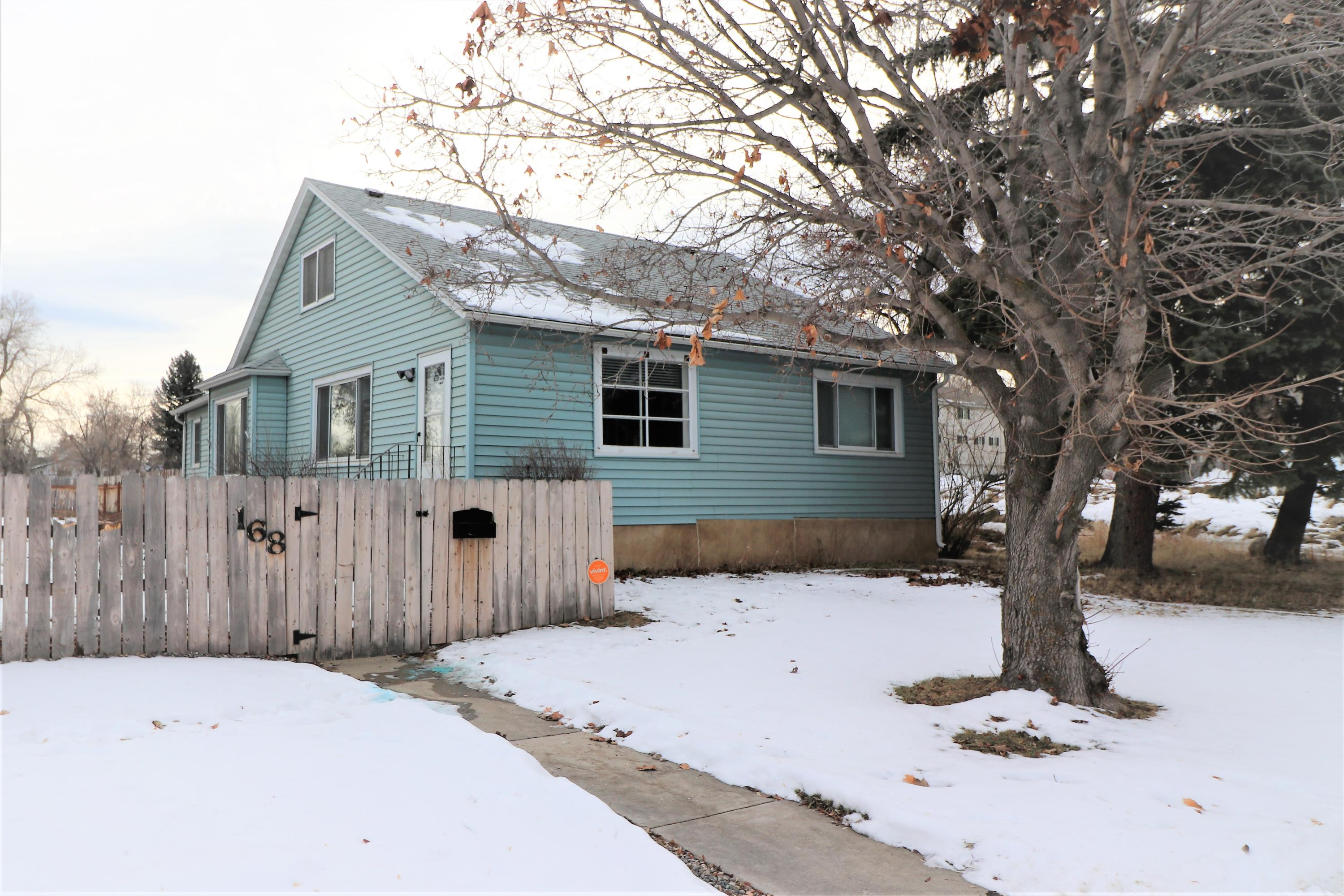 168 4th Street, Sheridan, Wyoming 82801, 4 Bedrooms Bedrooms, ,1 BathroomBathrooms,Residential,For Sale,4th,19-64