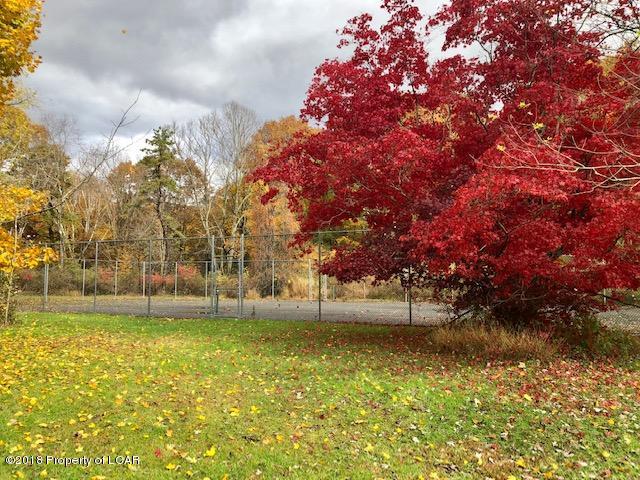 Autumn tennis court