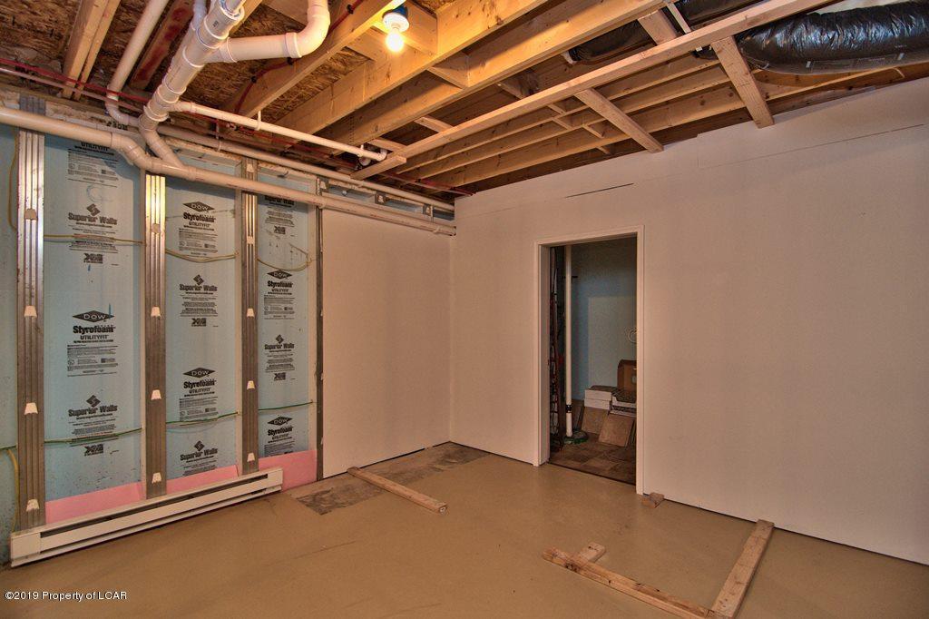 Framed basement