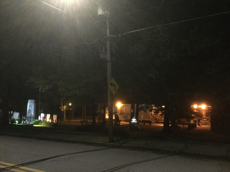 Freeland Park at night across the street