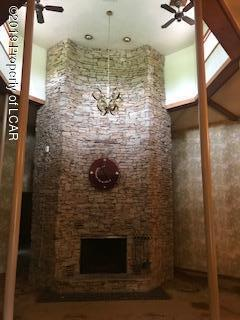 Massive custom fireplace