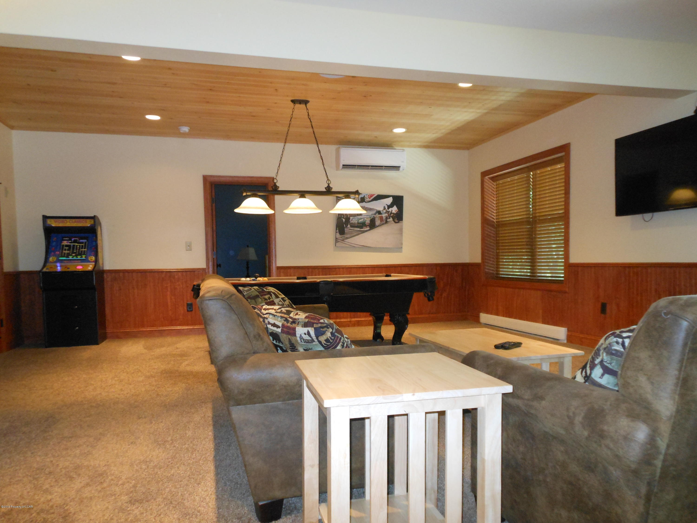 Lower level living/ Game room