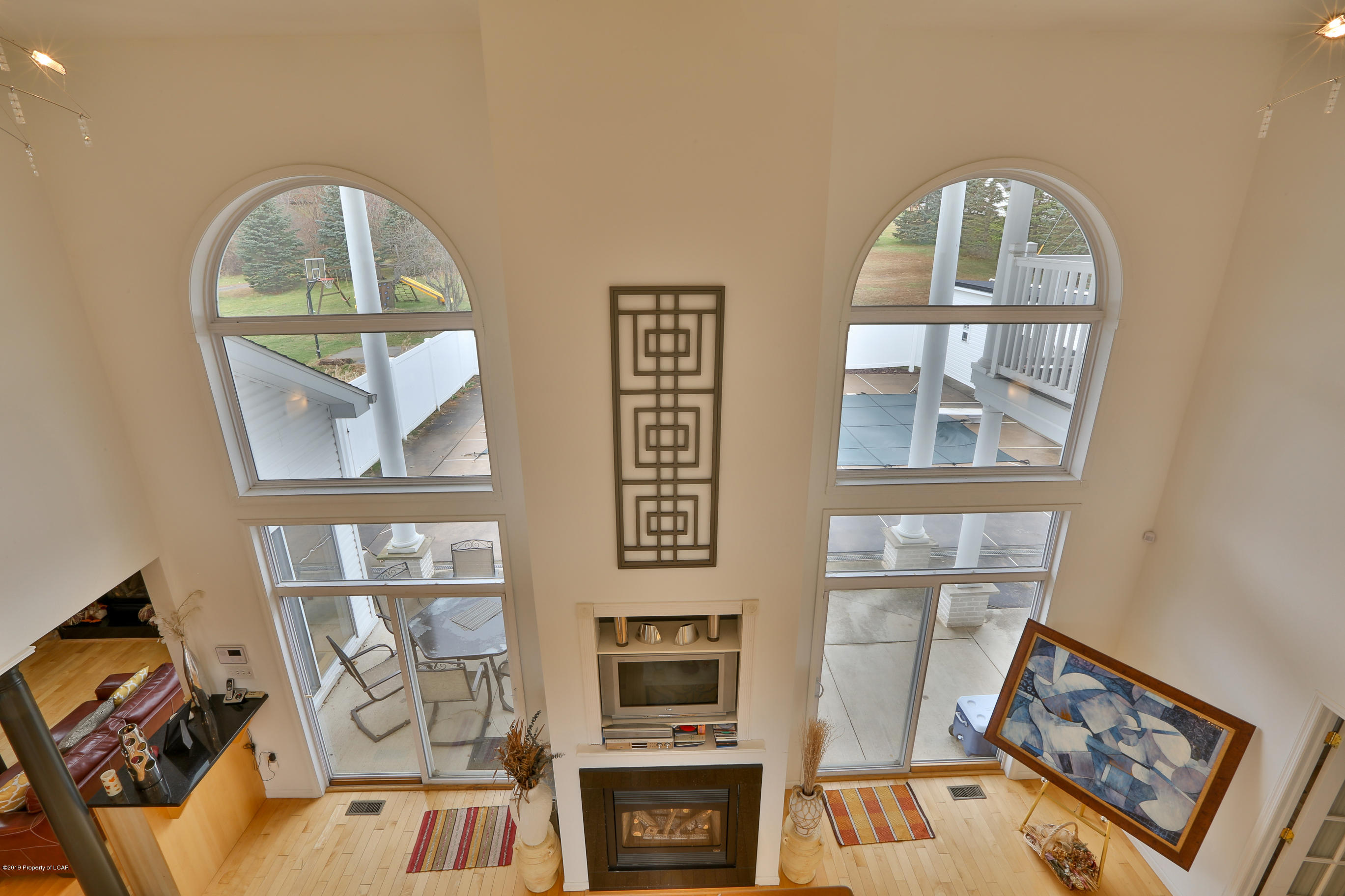 Looking down to the 2nd Family Room