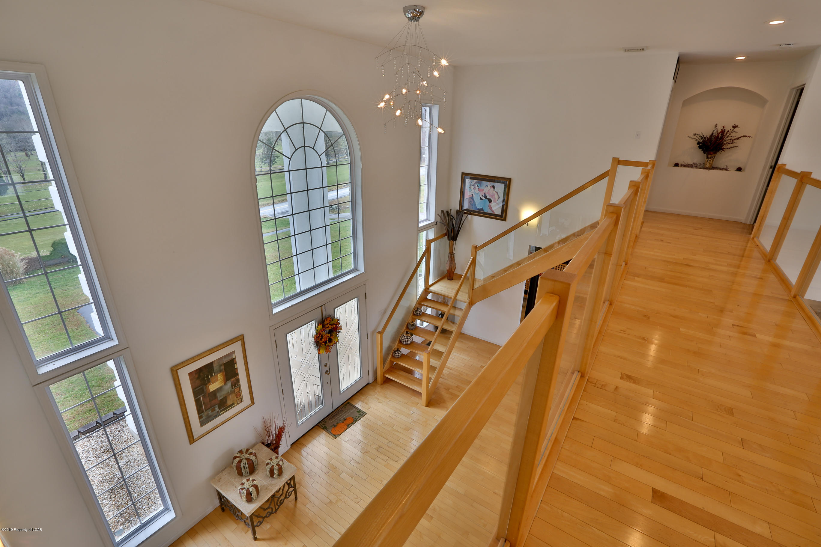 View of Foyer from above