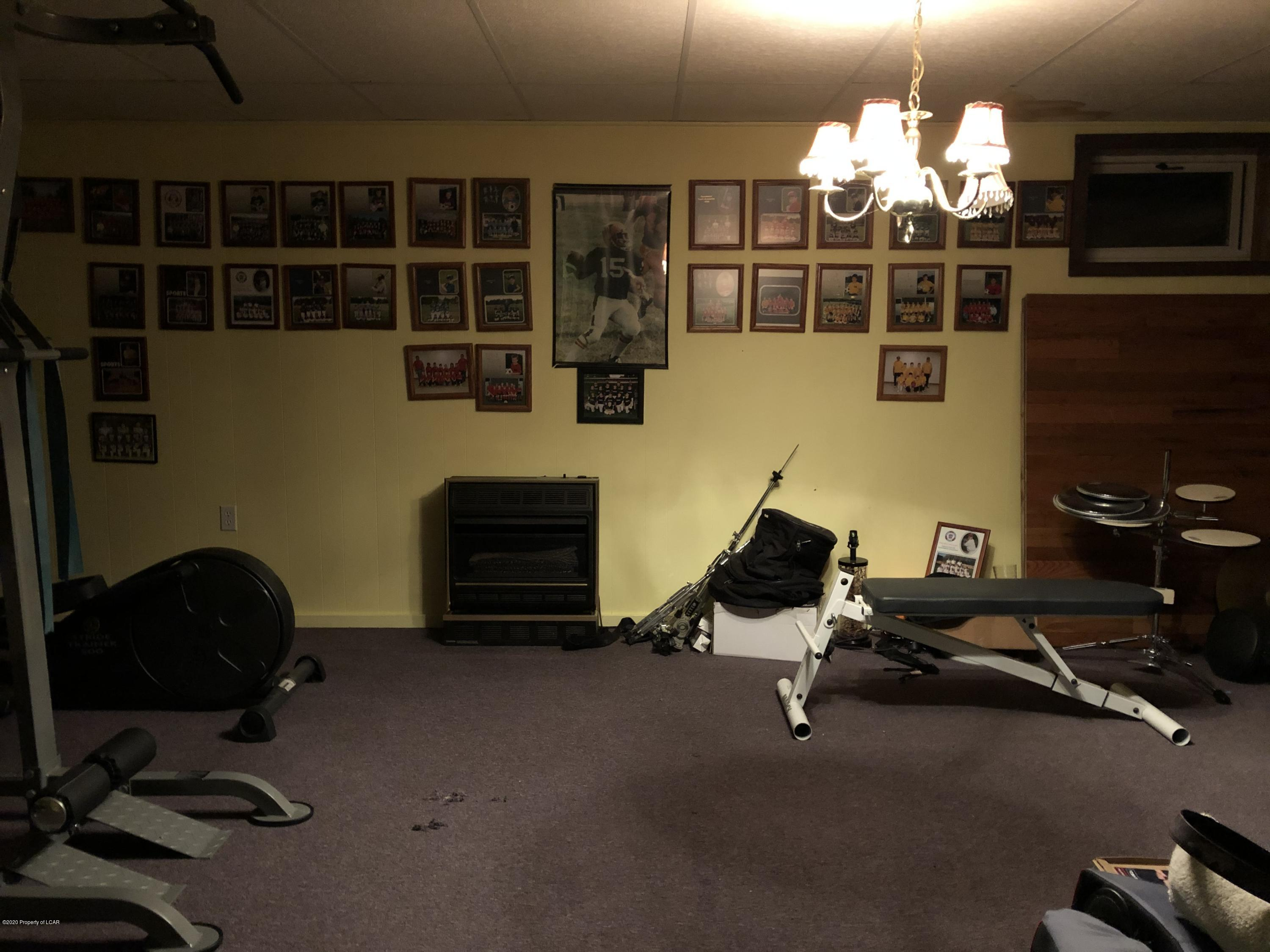 Lower level rec room