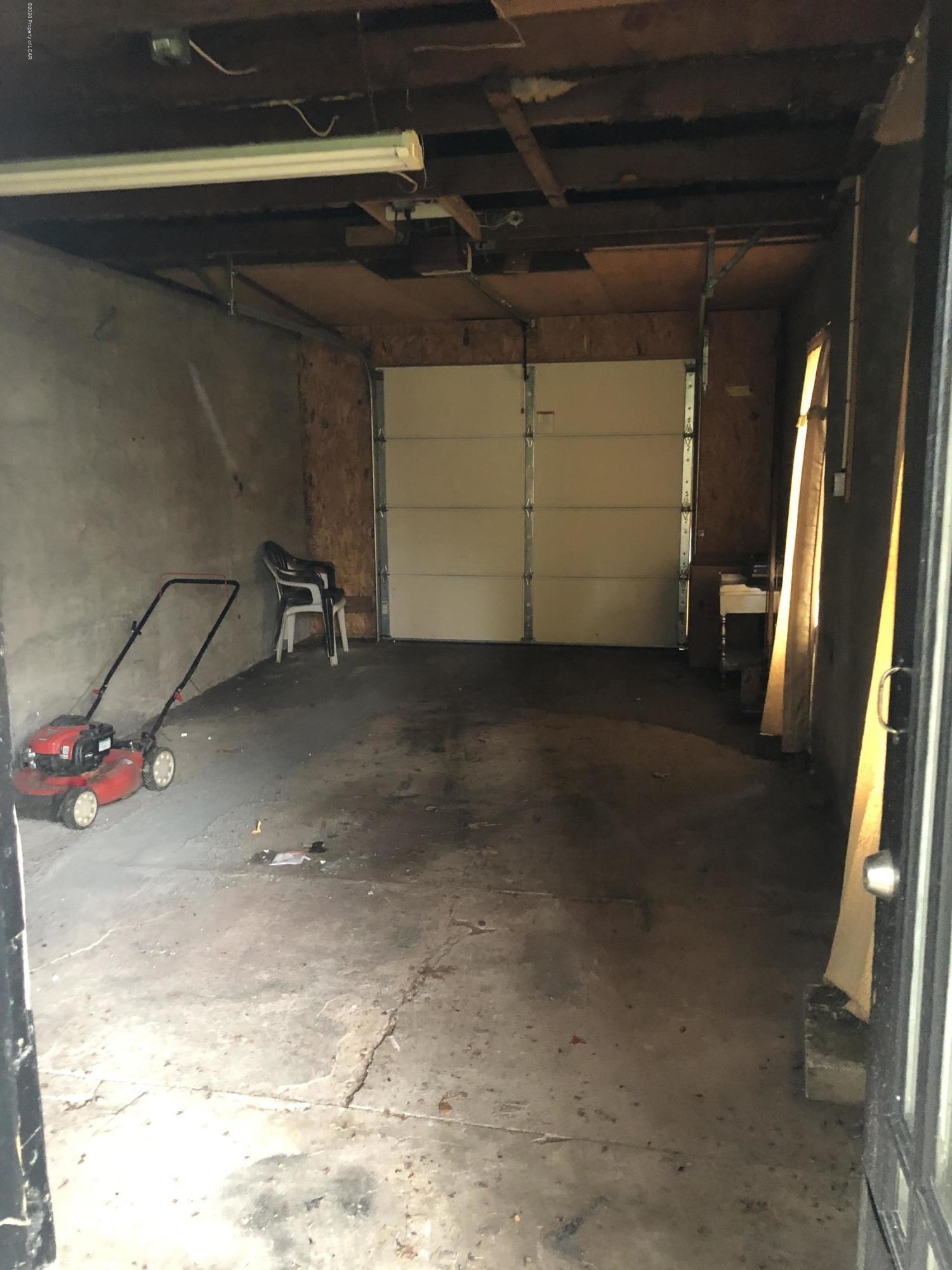 Inside front garage