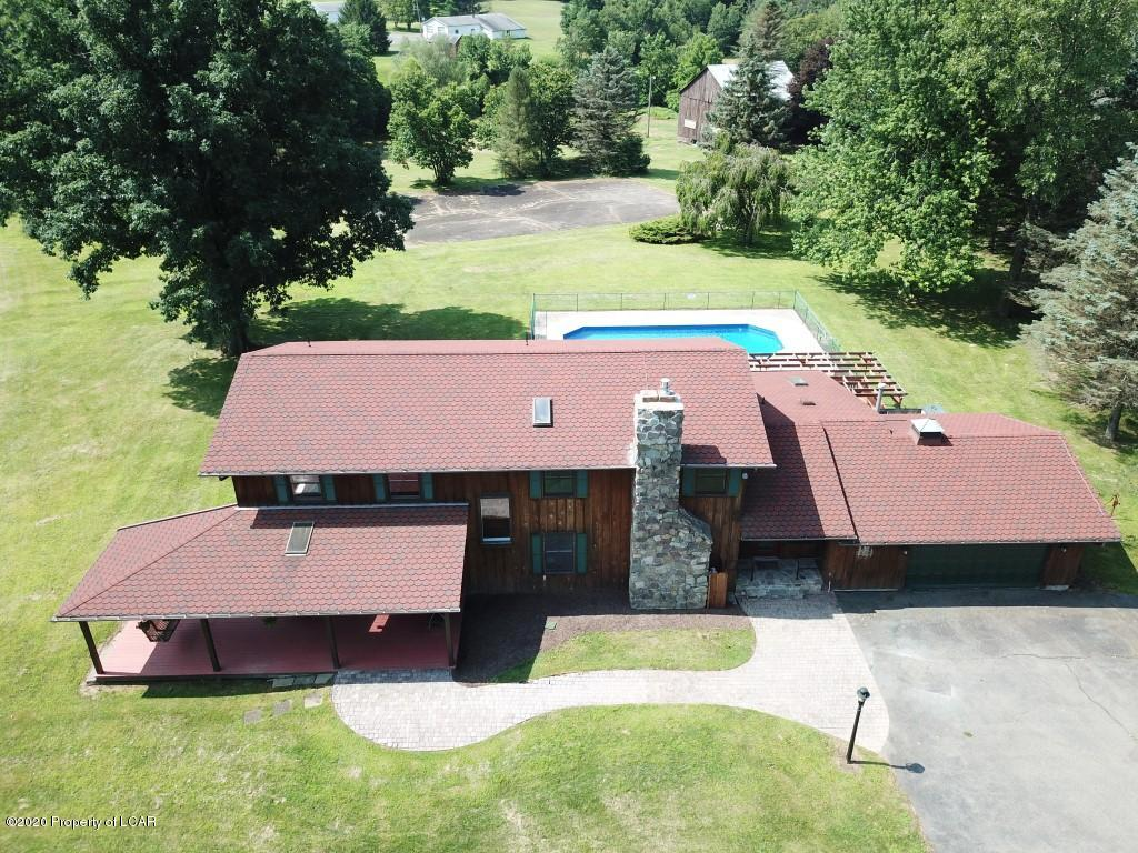 Aerial View of Front of House