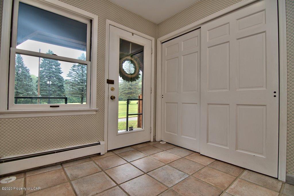 Mudroom Door & Closets