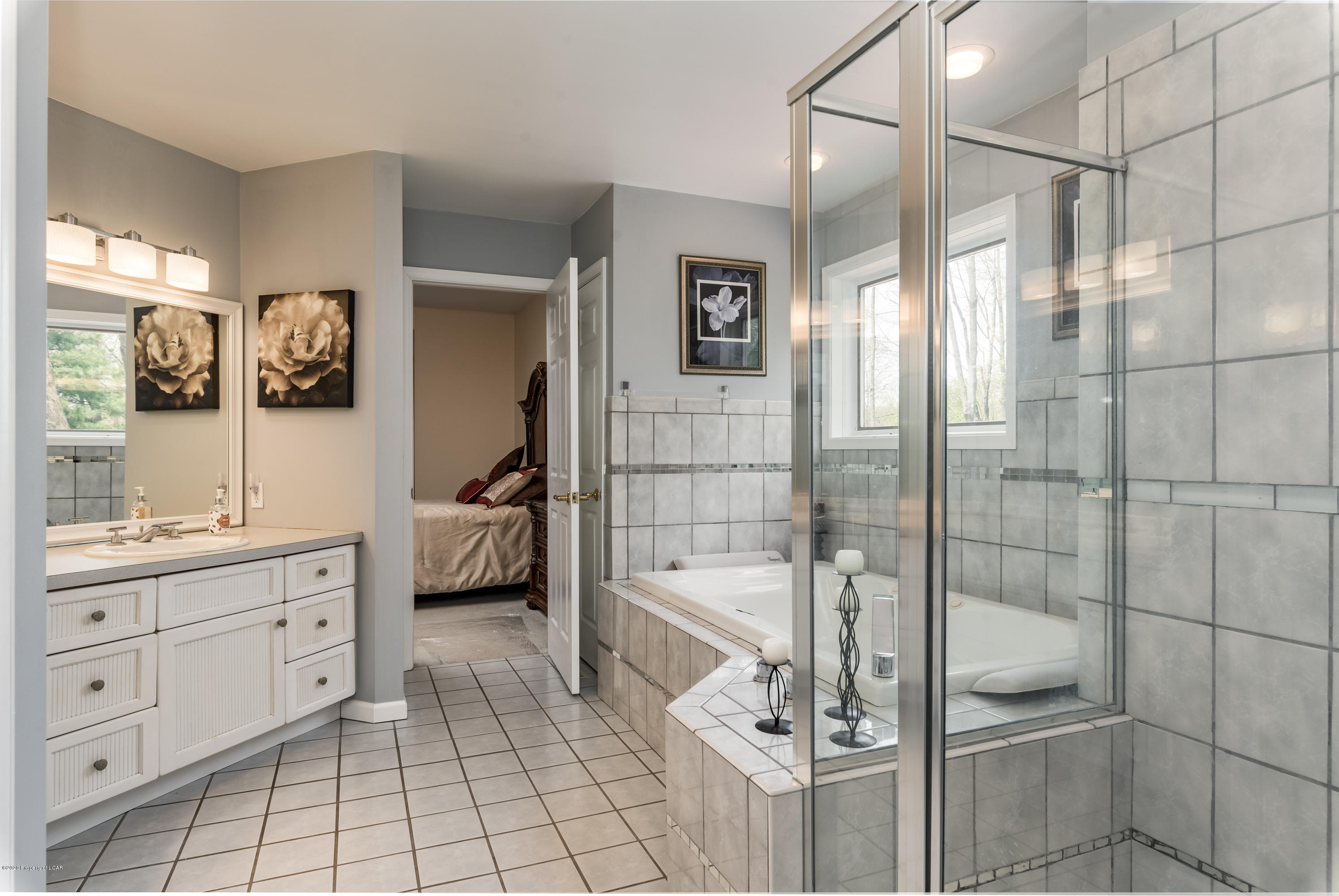 Complete master bathroom