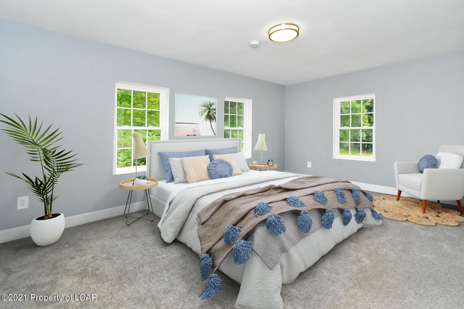 First Floor Primary Bedroom (Staged)