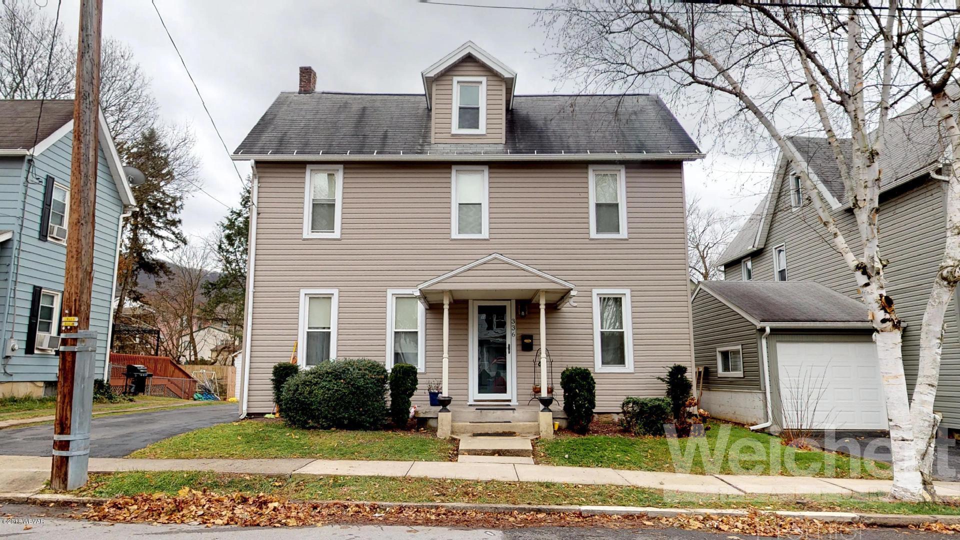336 MAIN STREET,S. Williamsport,PA 17702,4 Bedrooms Bedrooms,2 BathroomsBathrooms,Residential,MAIN,WB-86019