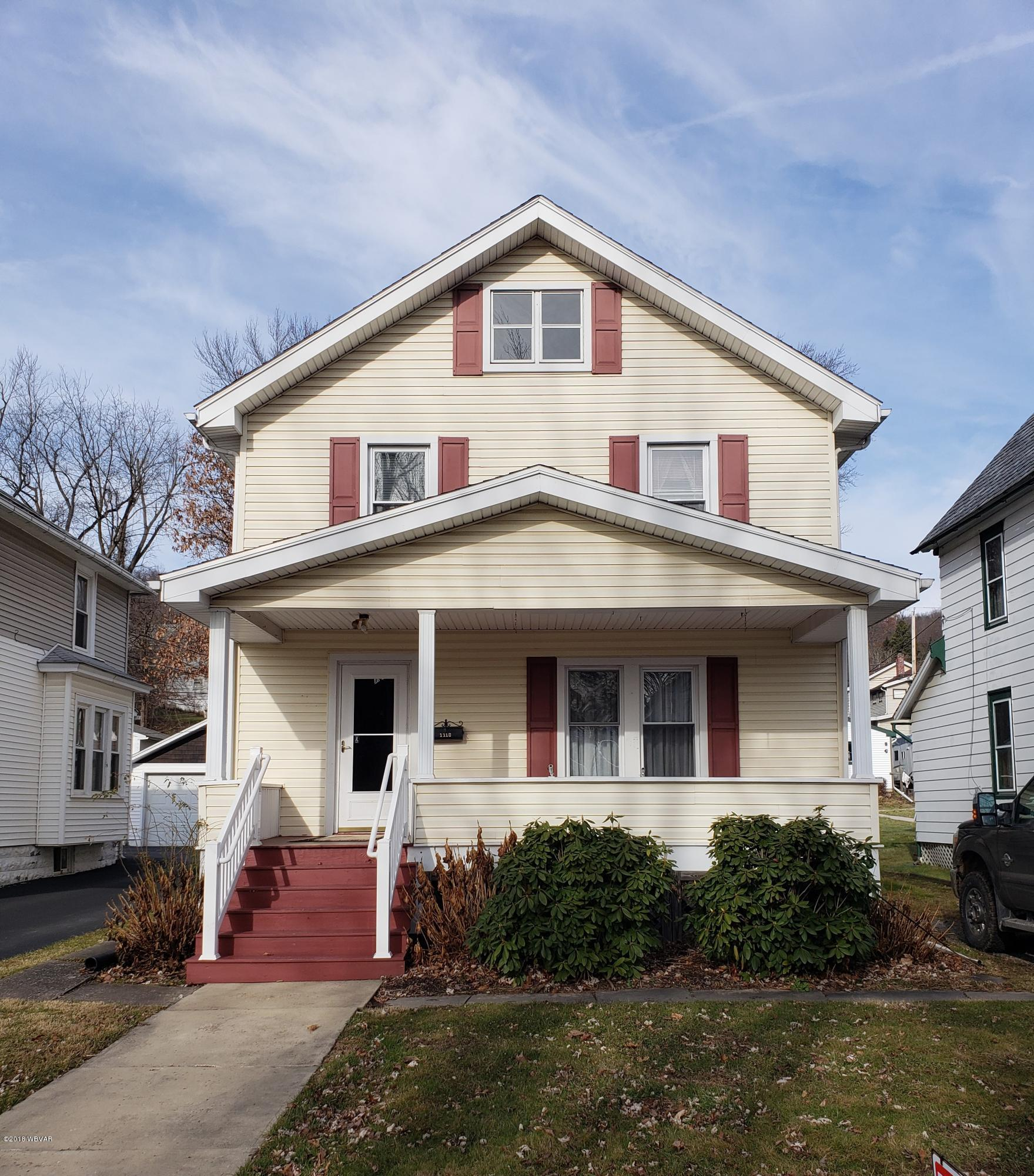 1110 HIGH STREET,Williamsport,PA 17701,3 Bedrooms Bedrooms,1.5 BathroomsBathrooms,Residential,HIGH,WB-86106