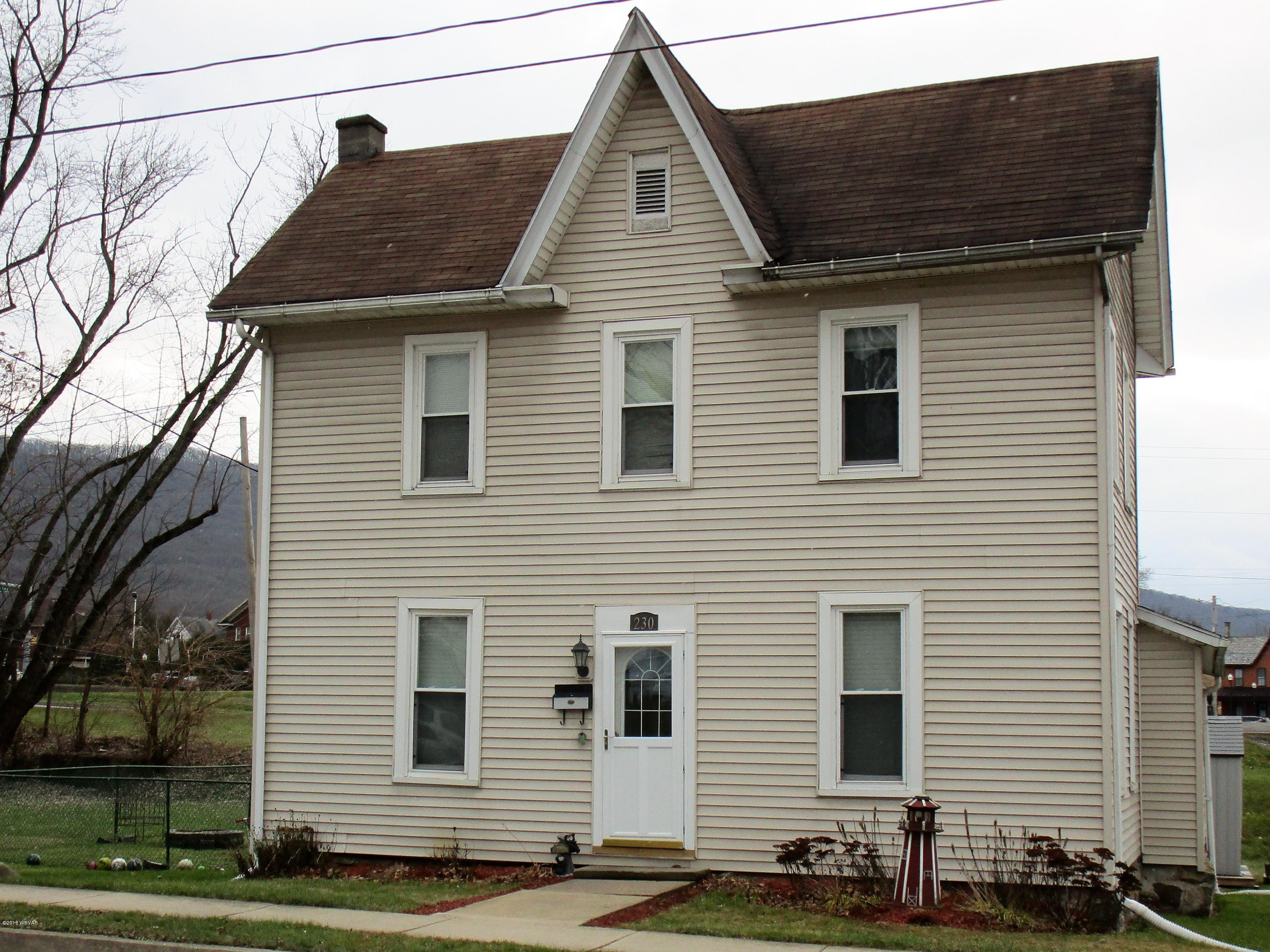 230 MAIN STREET,S. Williamsport,PA 17702,3 Bedrooms Bedrooms,1.75 BathroomsBathrooms,Residential,MAIN,WB-86103