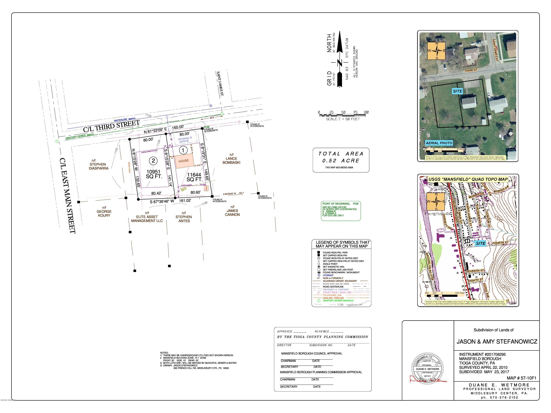 22 THIRD STREET,Mansfield,PA 16933,Land,THIRD,WB-86169