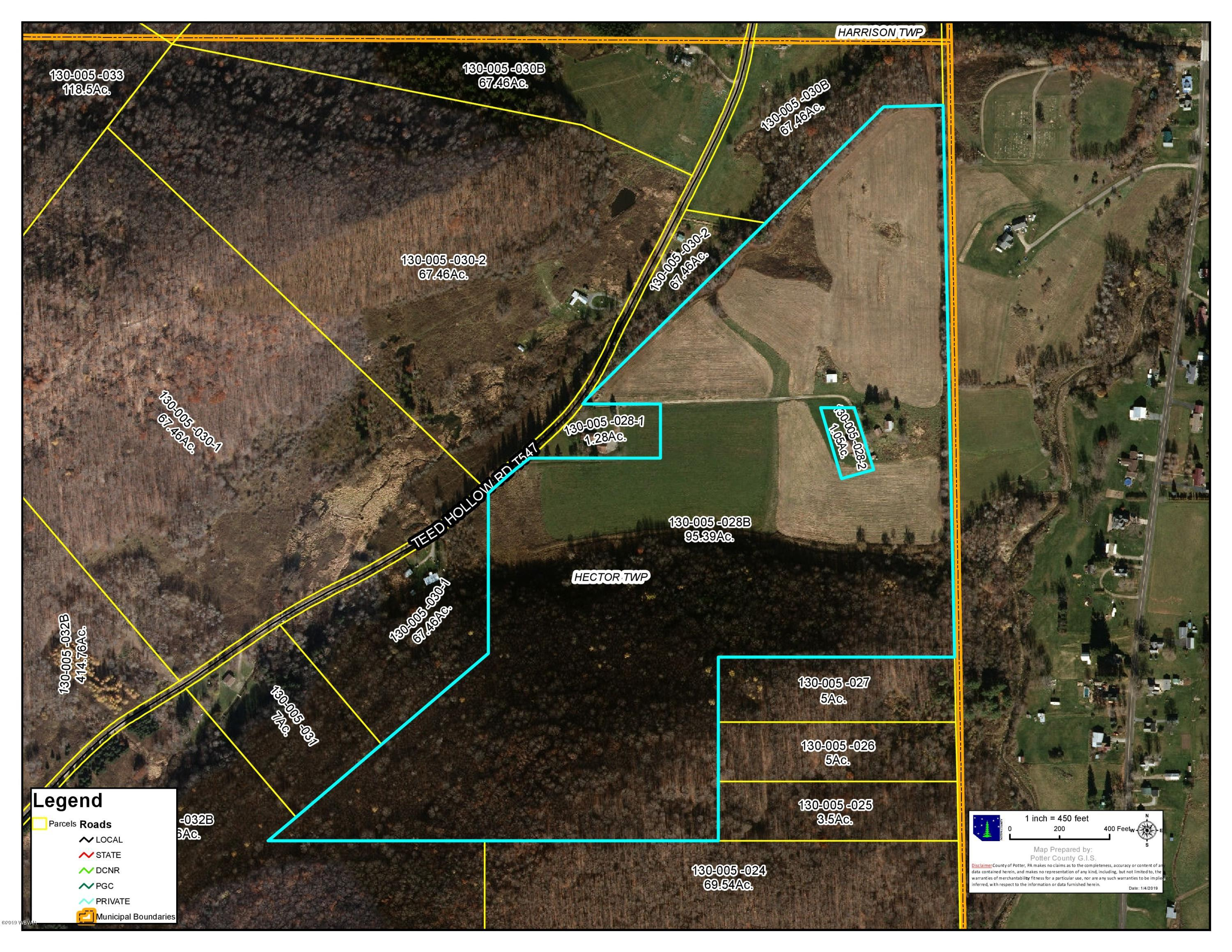 269 TEED HOLLOW ROAD,Westfield,PA 16950,Land,TEED HOLLOW,WB-86231