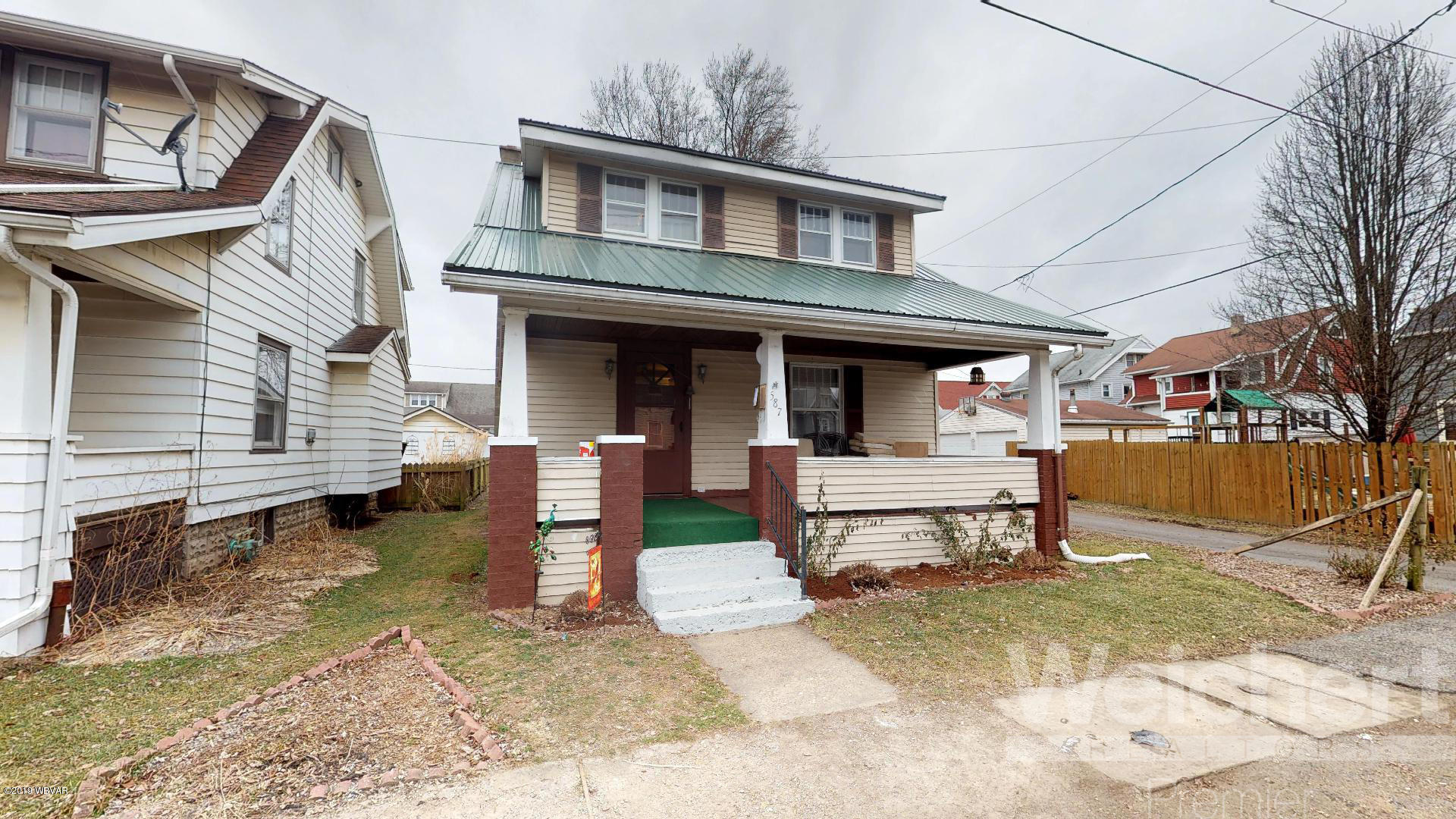 587 NEWCOMER AVENUE,Williamsport,PA 17701,3 Bedrooms Bedrooms,1 BathroomBathrooms,Residential,NEWCOMER,WB-86266