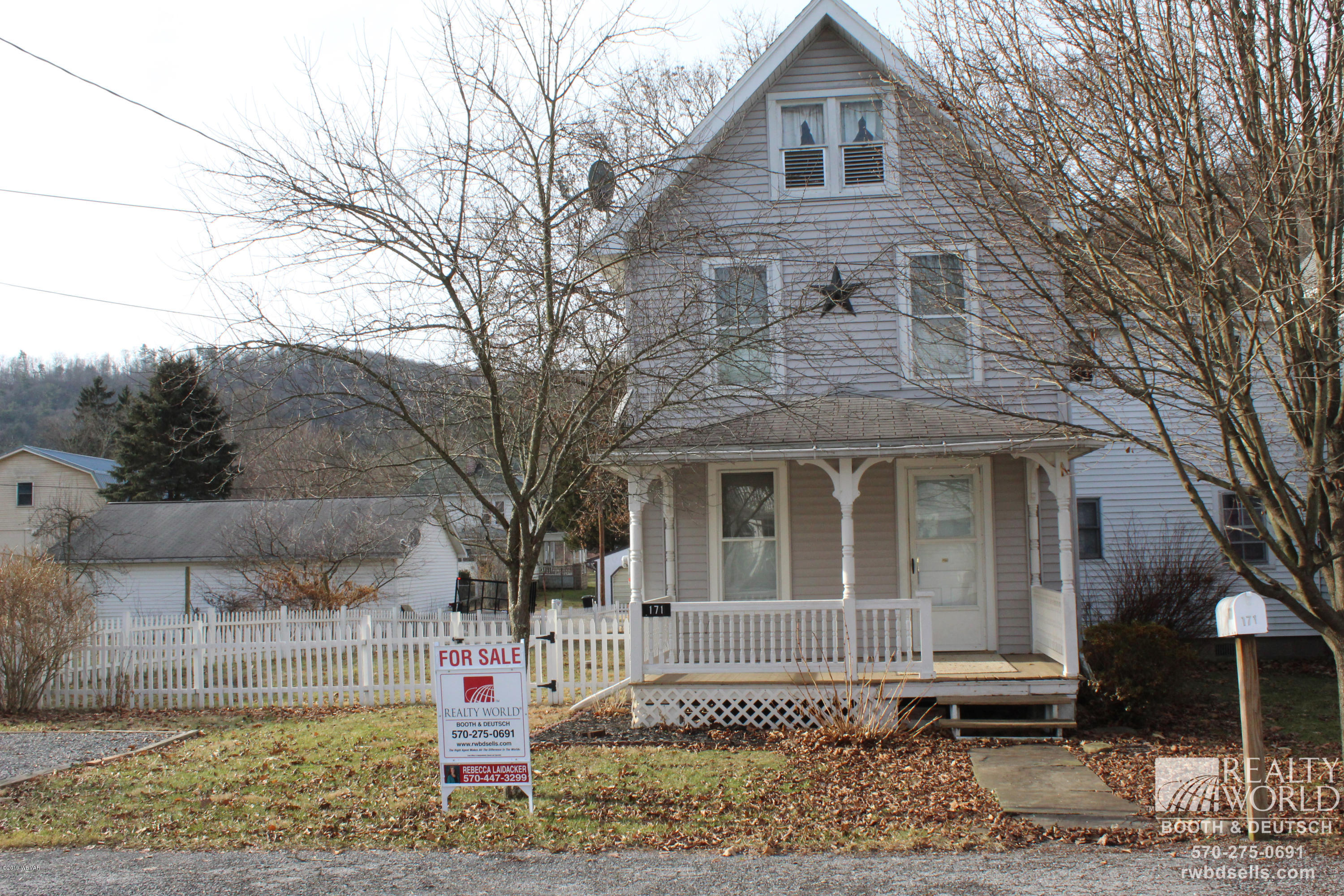 171 CHURCH STREET,Picture Rocks,PA 17762,3 Bedrooms Bedrooms,2 BathroomsBathrooms,Residential,CHURCH,WB-86256