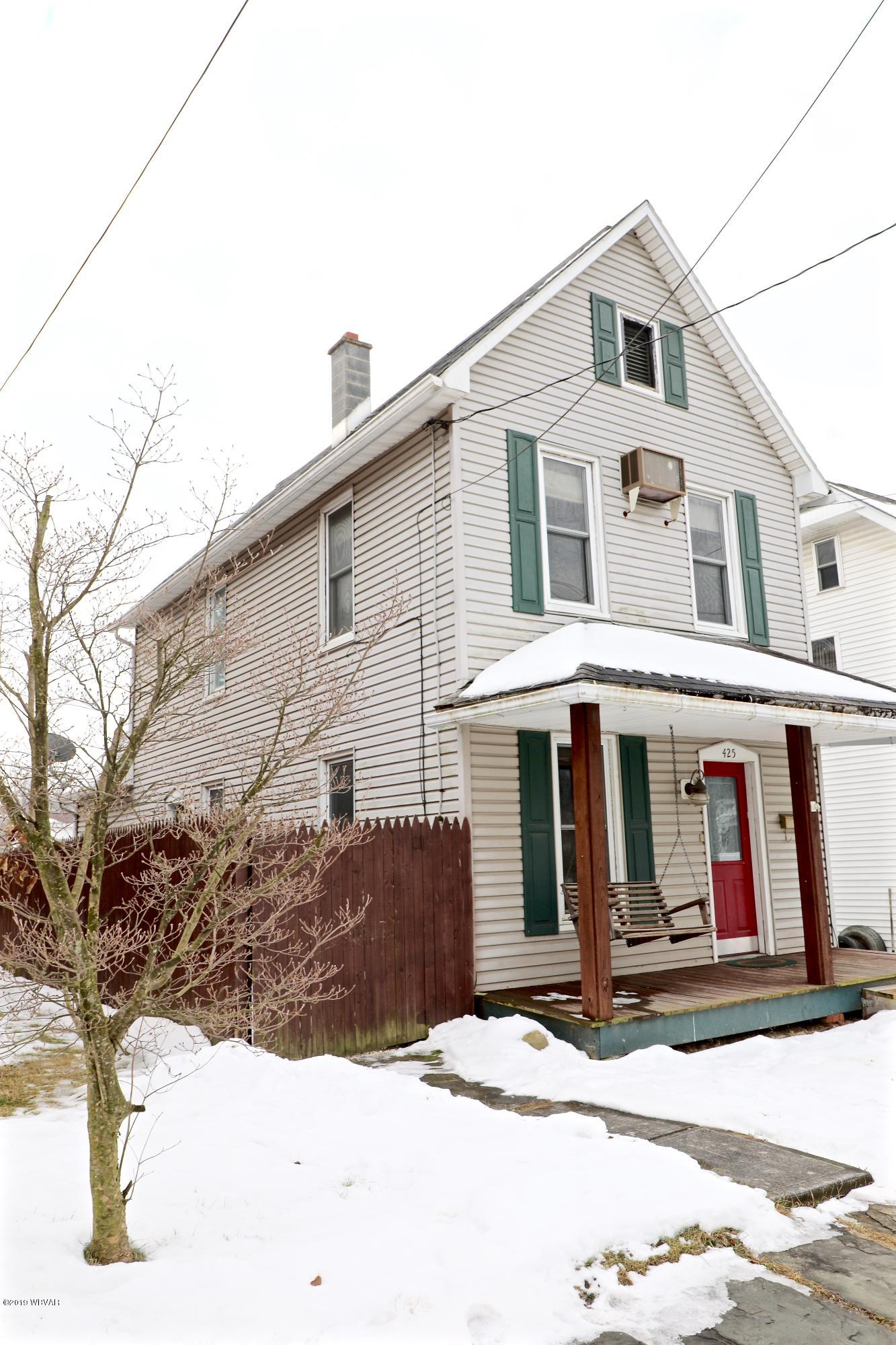 425 HIGH STREET,Jersey Shore,PA 17740,2 Bedrooms Bedrooms,1 BathroomBathrooms,Residential,HIGH,WB-86372