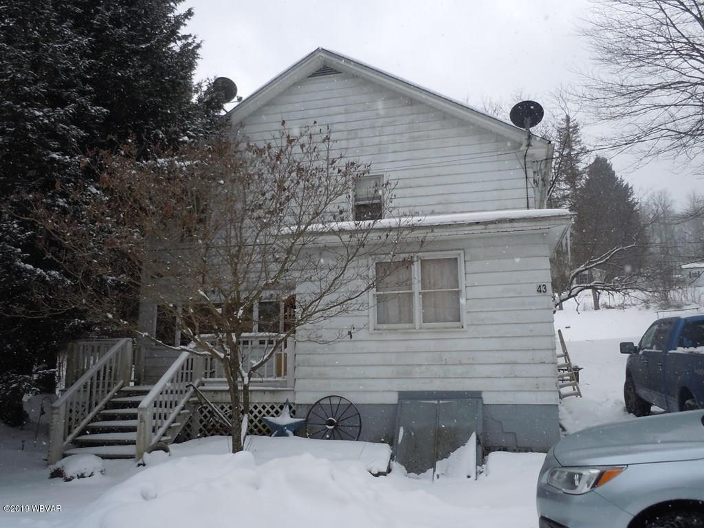 43 PINE STREET,Blossburg,PA 16912,5 Bedrooms Bedrooms,1 BathroomBathrooms,Residential,PINE,WB-86420