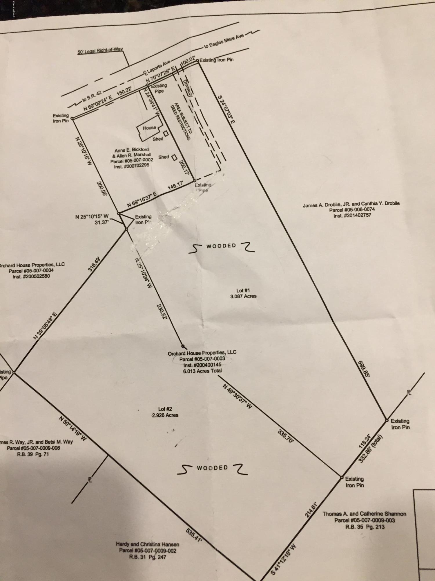 000 LAPORTE AVENUE, Eagles Mere, PA 17731, ,Land,For sale,LAPORTE,WB-86600