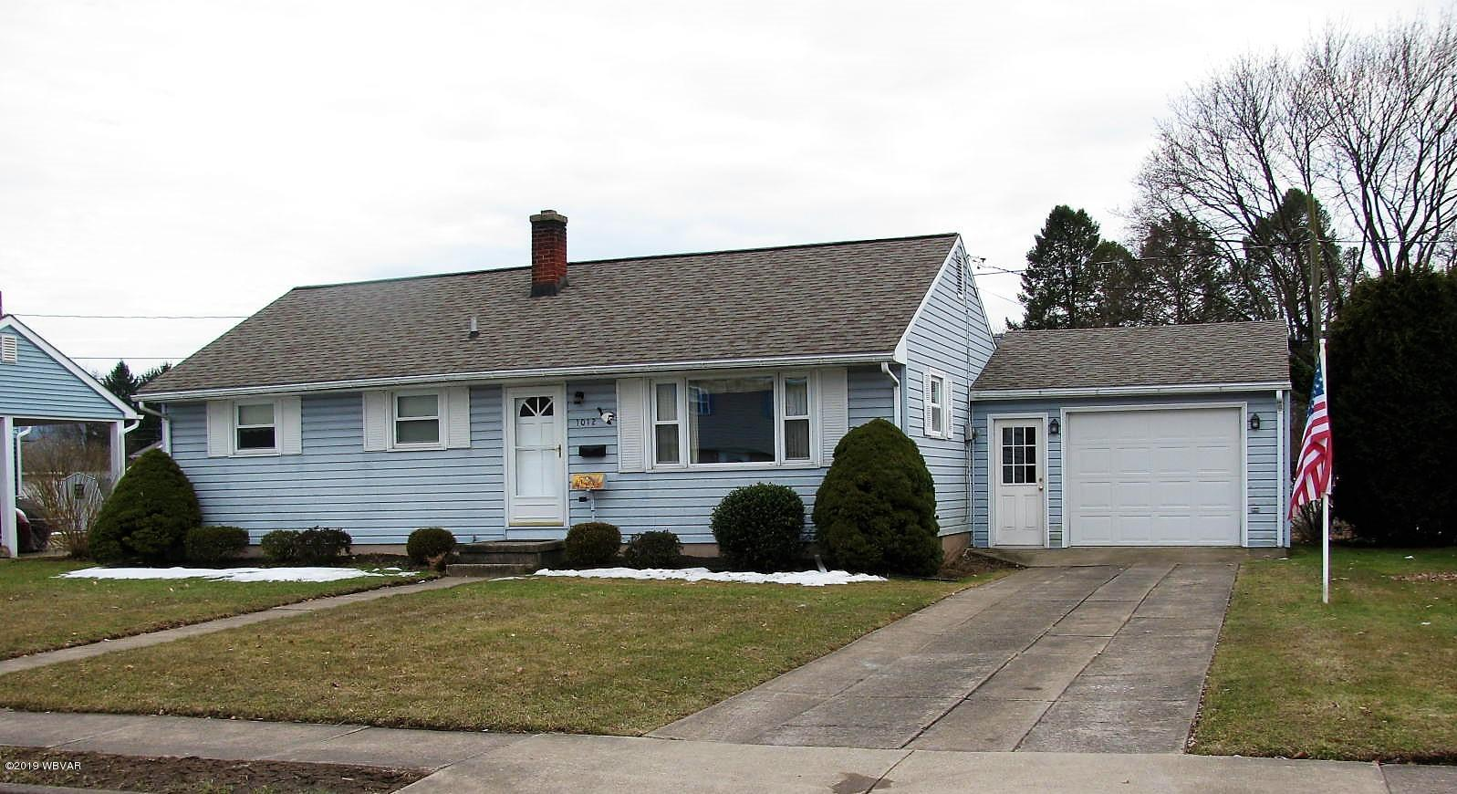 1012 ARTHUR ROAD,Montoursville,PA 17754,3 Bedrooms Bedrooms,1 BathroomBathrooms,Residential,ARTHUR,WB-86636