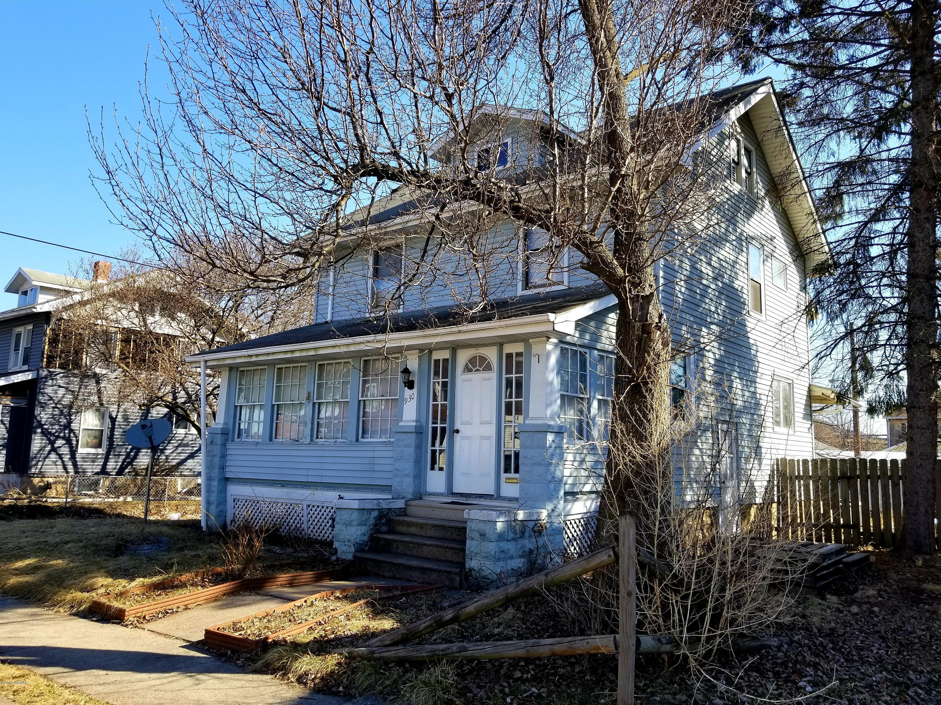 930 RACE STREET,Williamsport,PA 17701,3 Bedrooms Bedrooms,1 BathroomBathrooms,Residential,RACE,WB-86695