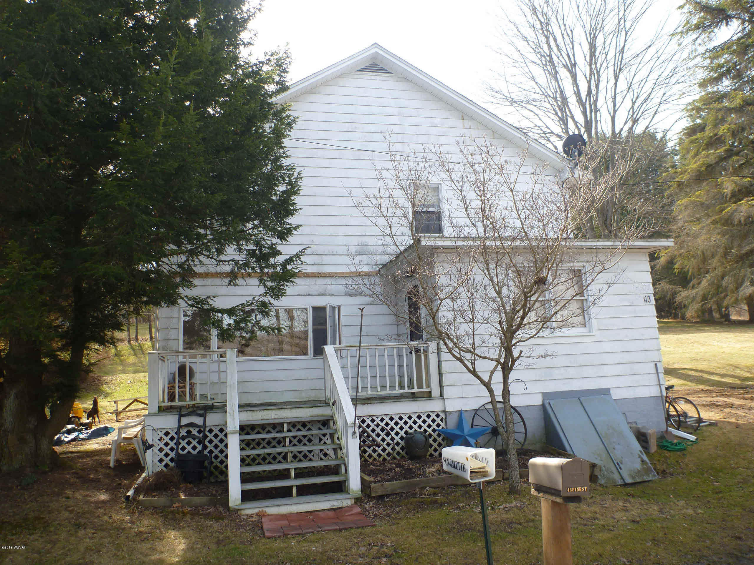43 PINE STREET, Blossburg, PA 16912, 5 Bedrooms Bedrooms, ,1 BathroomBathrooms,Residential,For sale,PINE,WB-86420